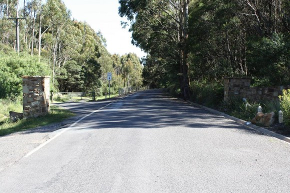 End of the Mt. Macedon (Woodend side) climb.