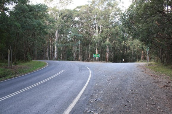 End of the Panton Gap (Healesville side) climb.