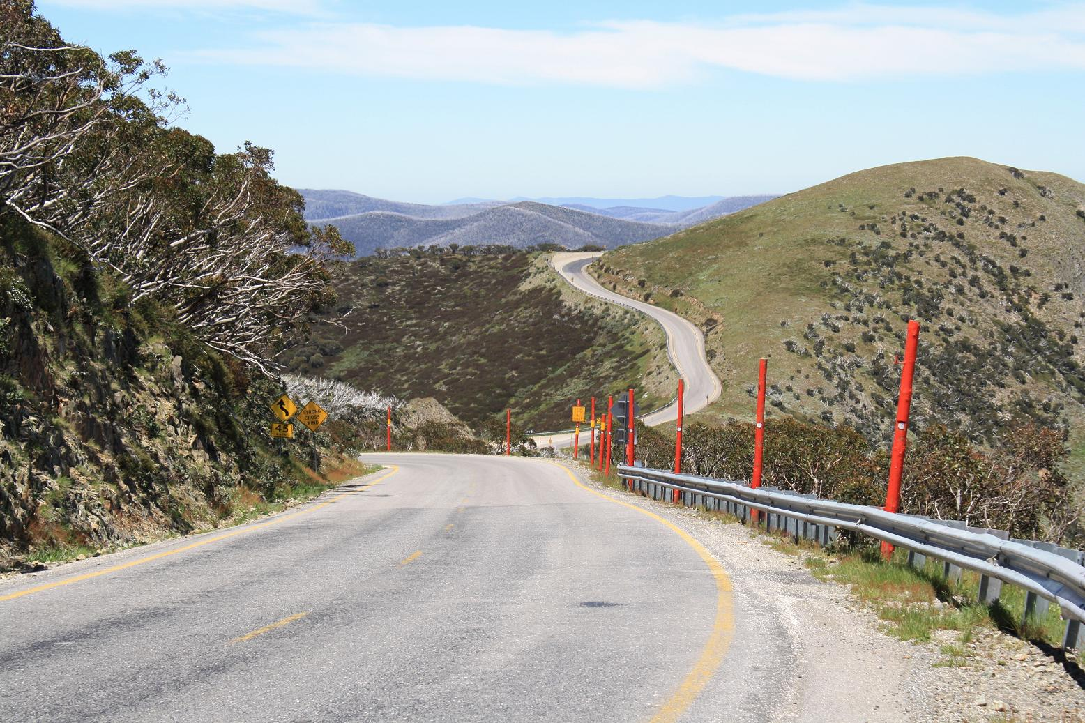 Looking down the Mt. Hotham climb