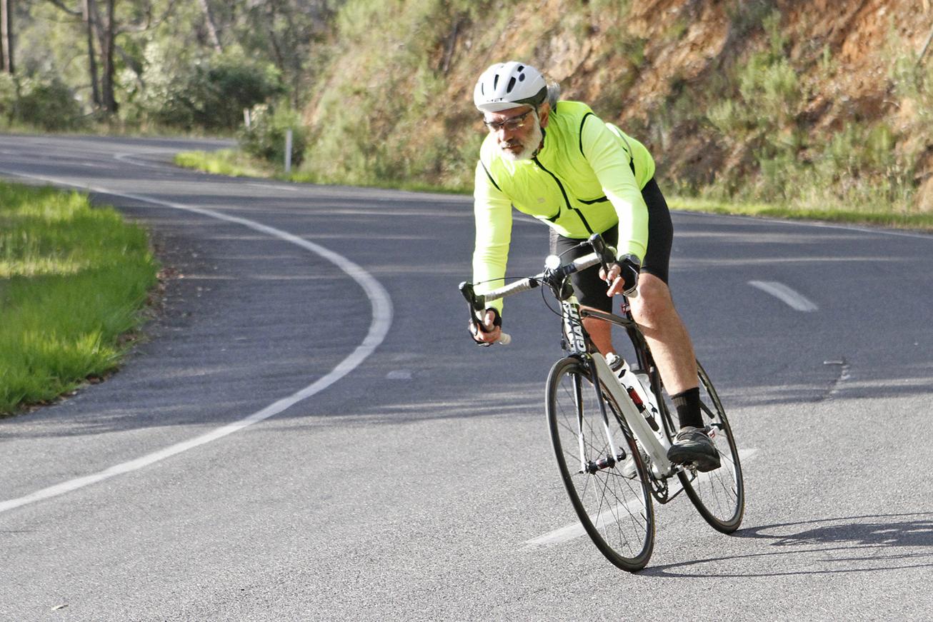 David descending the Tawonga Gap