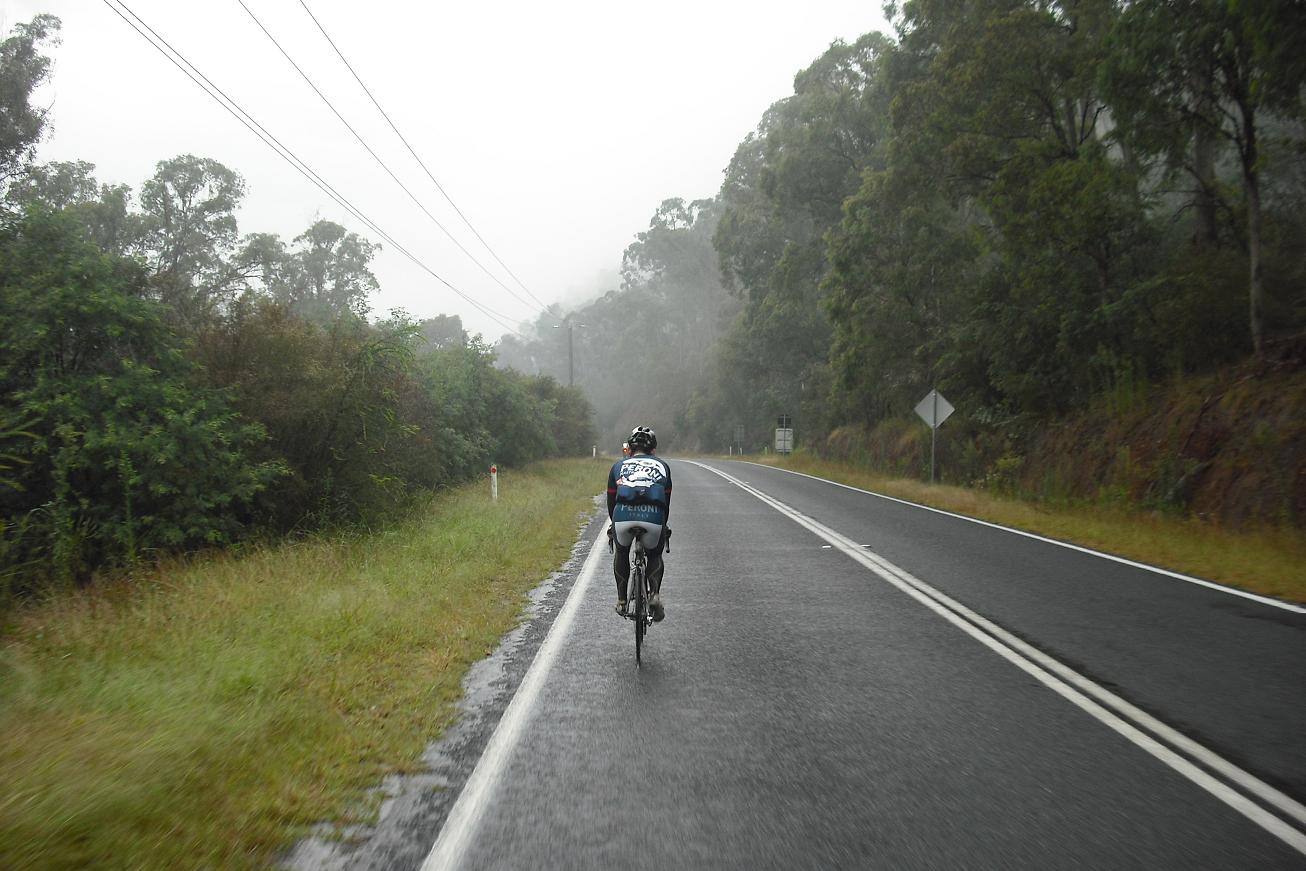 Wet weather between Germantown and Harrietville