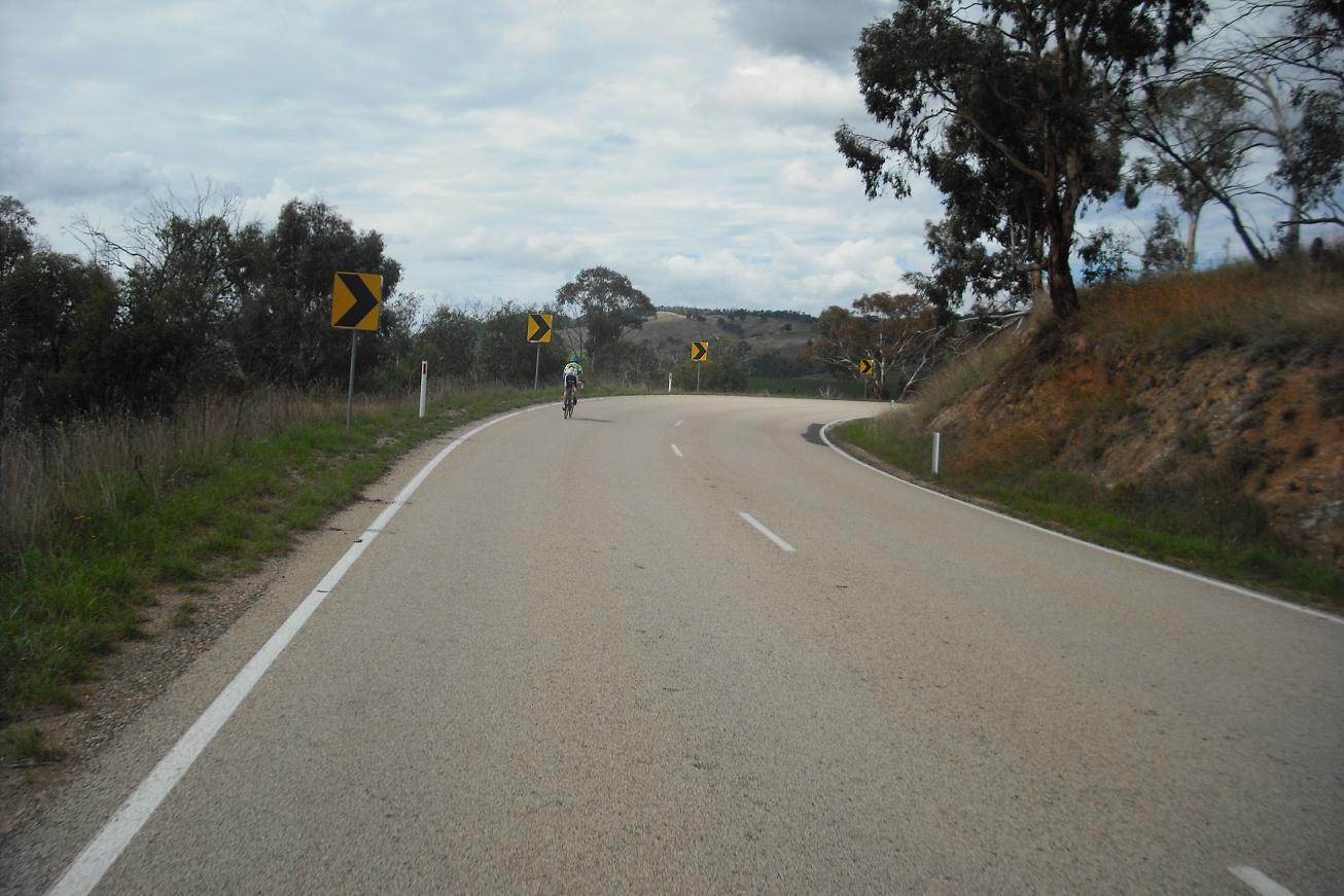 Descending toward Omeo