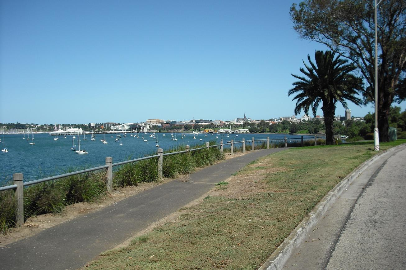 Looking out over Corio Bay