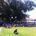 A captivated crowd at Montefiore Hill.