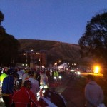 Token blurry start line photo.
