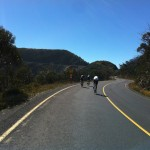 Starting the final third of the Mt. Hotham climb