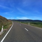 The road between Dinner Plain and Omeo.