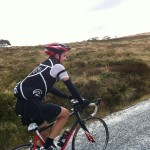 Evan in the final kilometres of 3 Peaks.