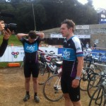 Being interviewed by Bicycle Network Victoria after finishing.