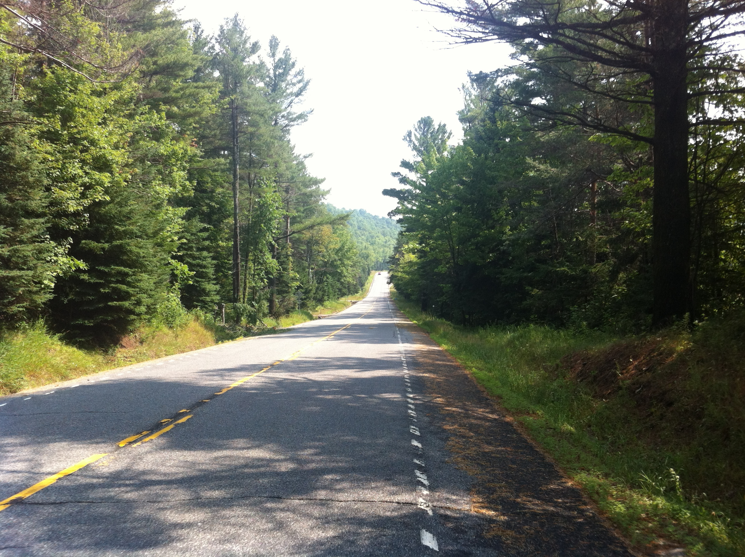 One of the many picturesque roads around Lake Placid.