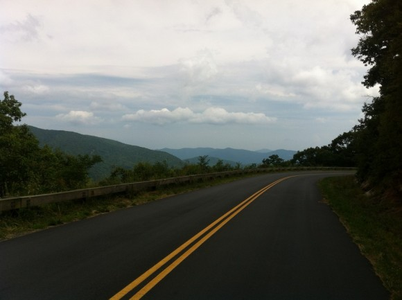 Descending Mt. Mitchell toward Asheville.