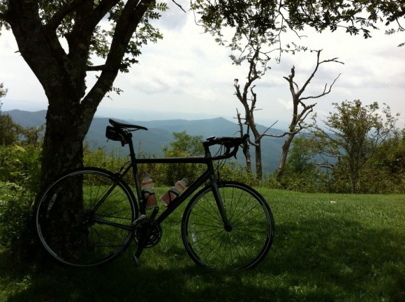 My Trek 2.1 rental bike at Mt. Pisgah.