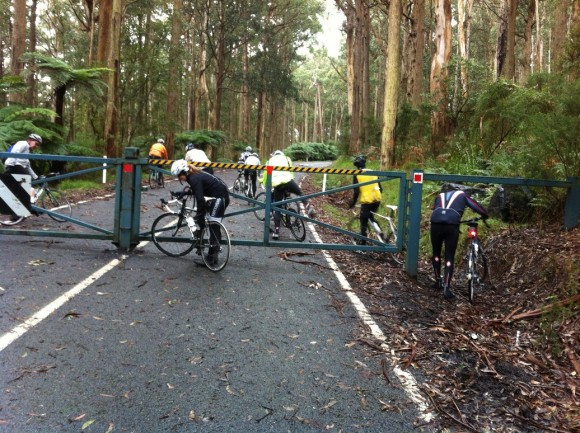 Getting around the 'road closed' gate at Panton Gap.