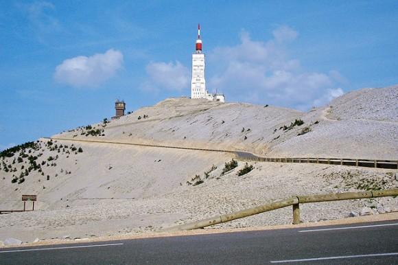 The final kilometres of the Mont Ventoux climb.