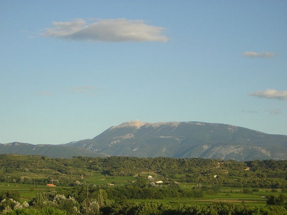 Mont Ventoux and its bald summit is visible from many kilometres away/
