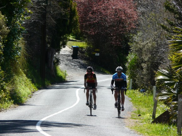 A couple of riders popping out of the valley at the top of Fernhurst and clearly enjoying the moment.