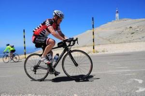 Me climbing Mont Ventoux.