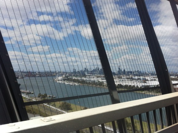 View from the Westgate Bridge.
