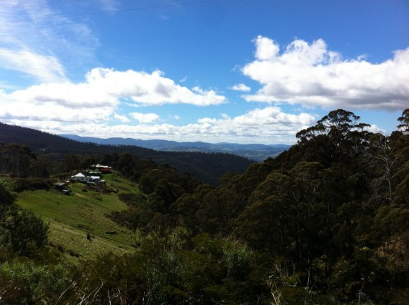 One of the great views from the Collinsvale climb.