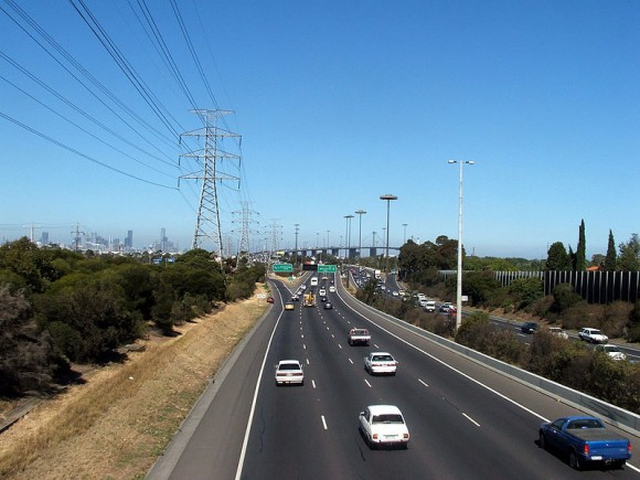 The Geelong-Melbourne freeway mightn't be the most picturesque road to ride on ... but it is fast.
