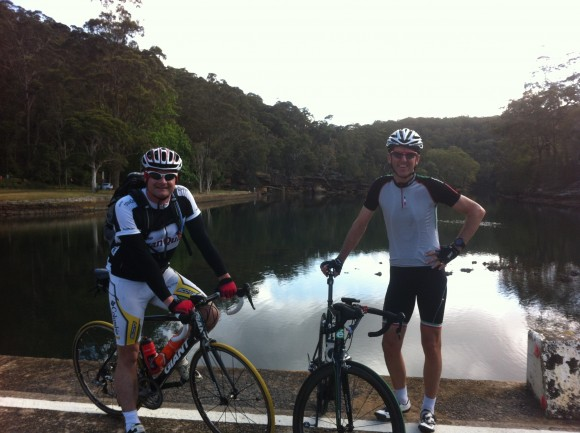 On tour with Sydney-based eQuipo tranQuilador Tim Dugan (r).