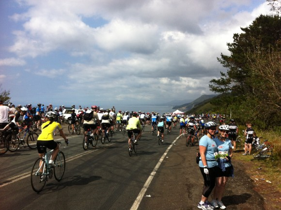 Coastal views and big crowds are par for the course on the 'Gong Ride.