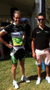Brendan with Robbie McEwen.