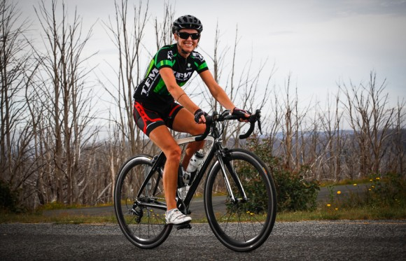 Leah MacGibbon was one of six women to ride her way into the Strava top 10.  (Image: Nigel Welch)