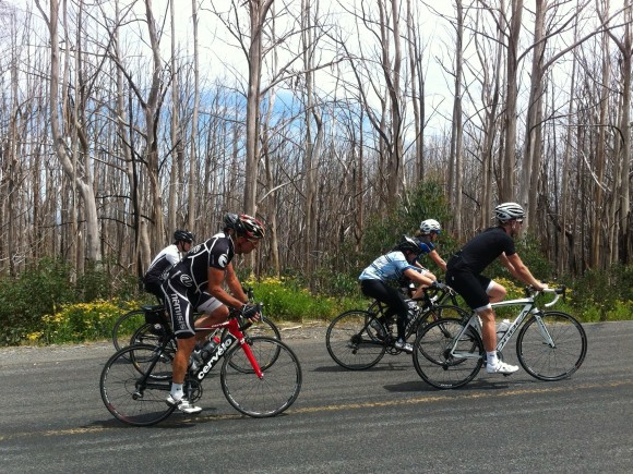 It was a great effort by Jayde (light blue jersey) to push through to the top. Inspiring!