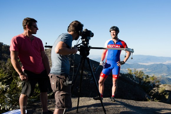 Behind the scenes at the Tourism Victoria film shoot. (Image: Wil Gleeson)