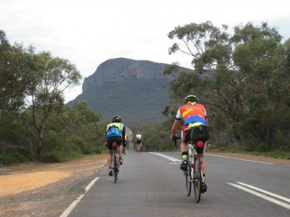 Riders crossing the Grampians (Image: Peter Heal)
