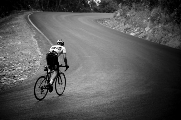 Hell Corner: the steepest part of the climb. (Image: Kirsten Simpson)
