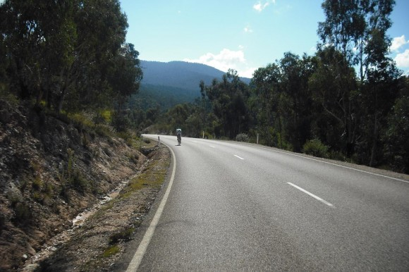 Try to enjoy the section just before the last climb - it's a great bit of road.