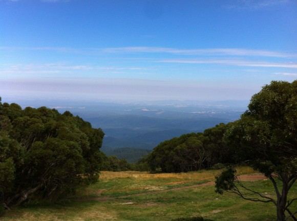 The view from the Mt. Baw Baw Alpine Resort.