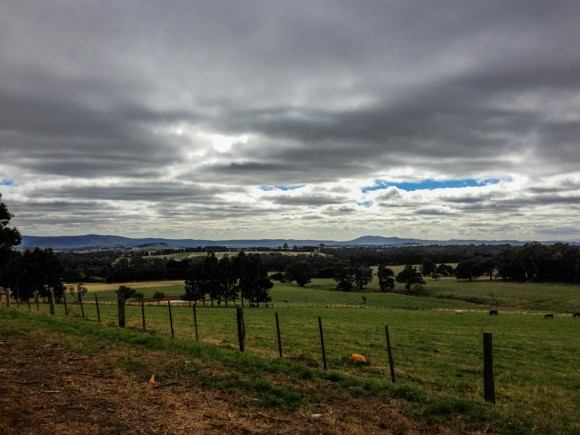 The view from Straws Lane, Mt. Macedon.