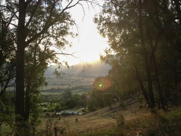 Early morning views from the lower slopes of Tawonga Gap.