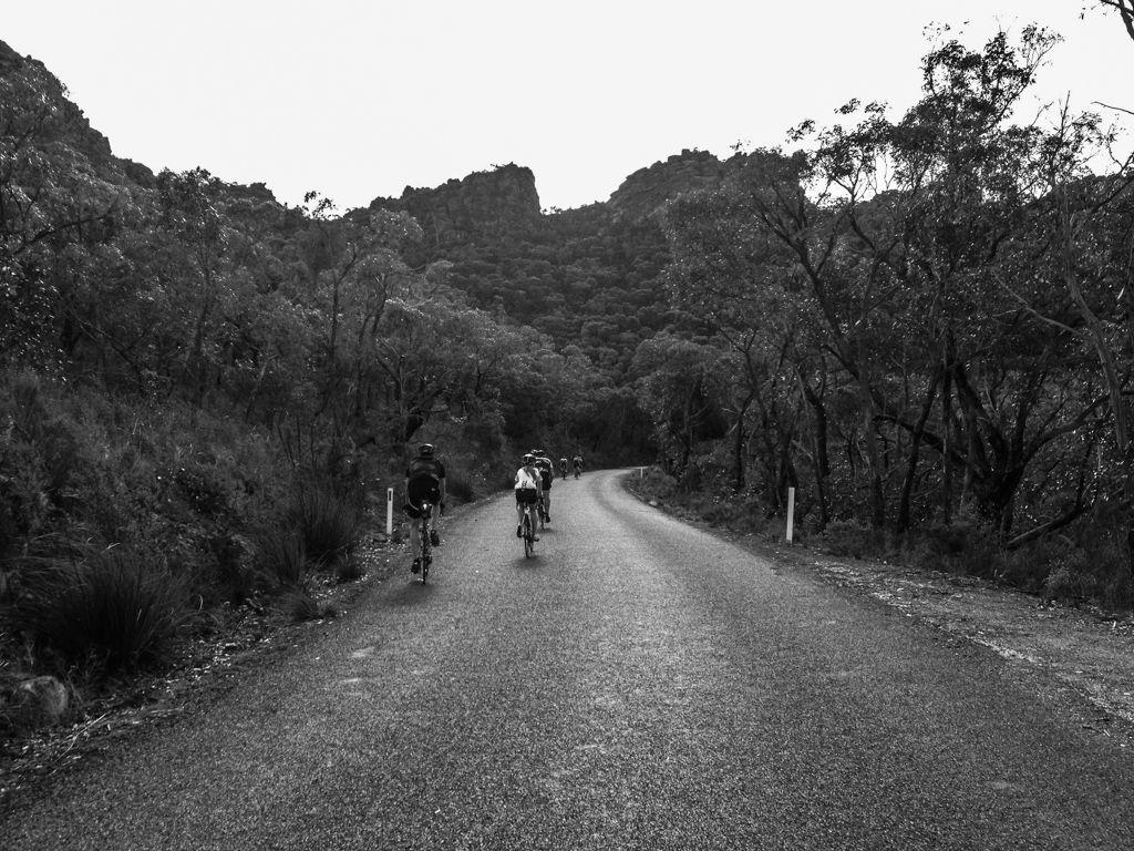 Climbing Mirranatwa Gap.