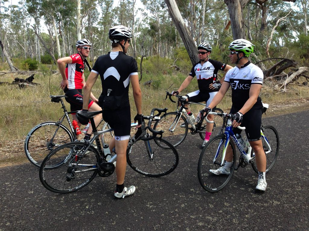 Regrouping before climbing the backside of the Mirranatwa Gap.