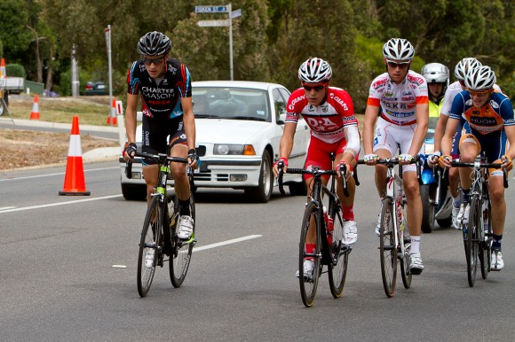 Matt rides in the 2013 Men's U23 National Road Championships in January.