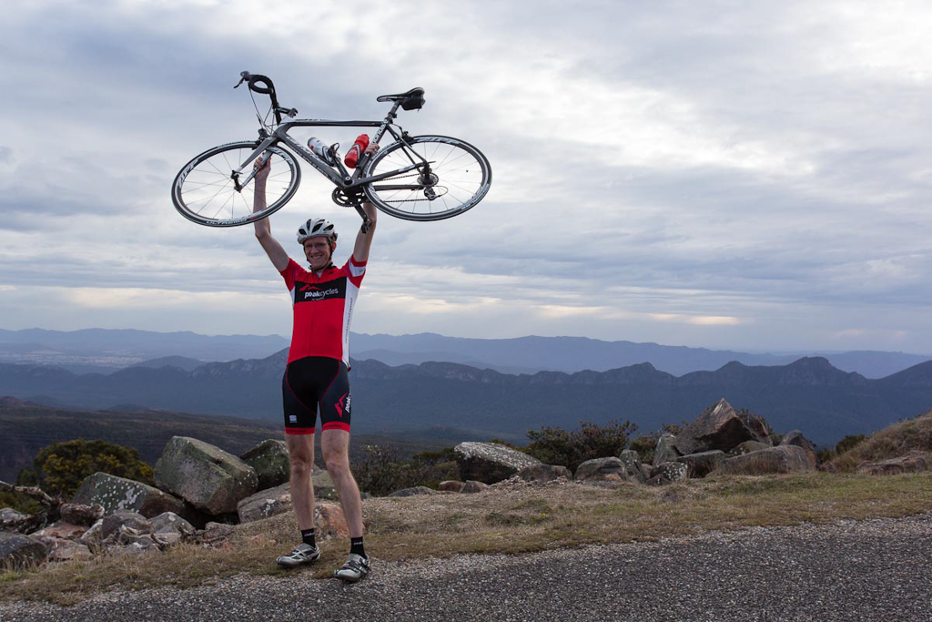 Cyril after conquering Mt. William. (Image: Wil Gleeson)
