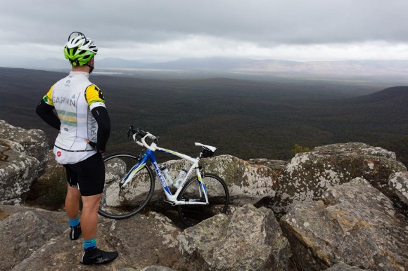 John takes in the views from Reeds Lookout. (Image: Wil Gleeson)