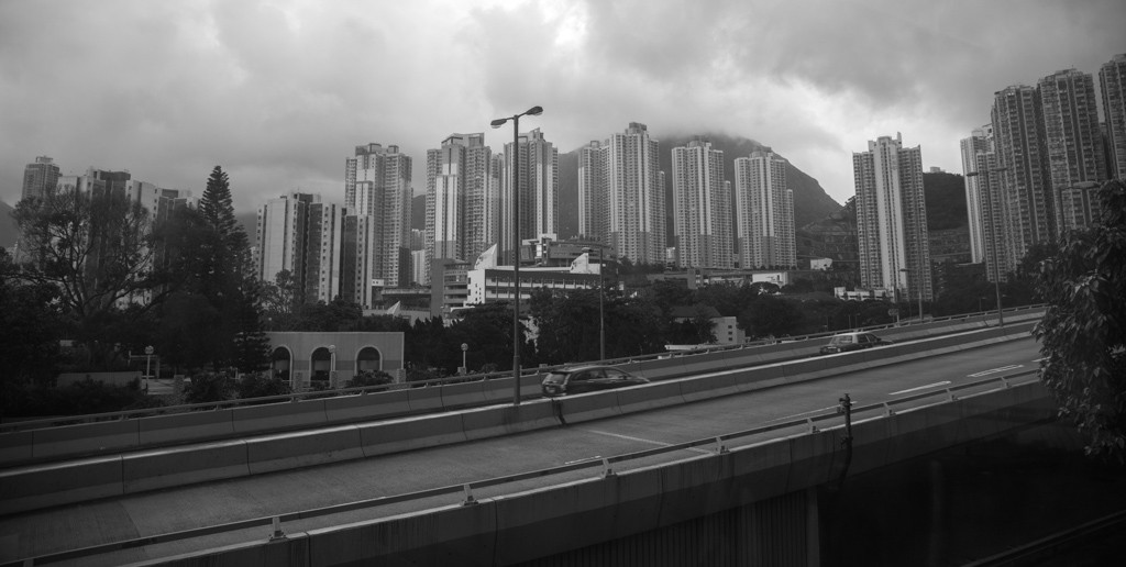 The view from the CyclingTips Hong Kong office (i.e. the boardroom of the Champion System office).