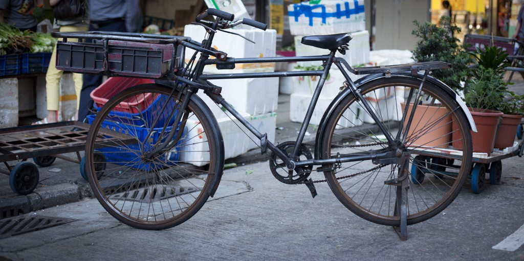 Hong Kong town bikes.