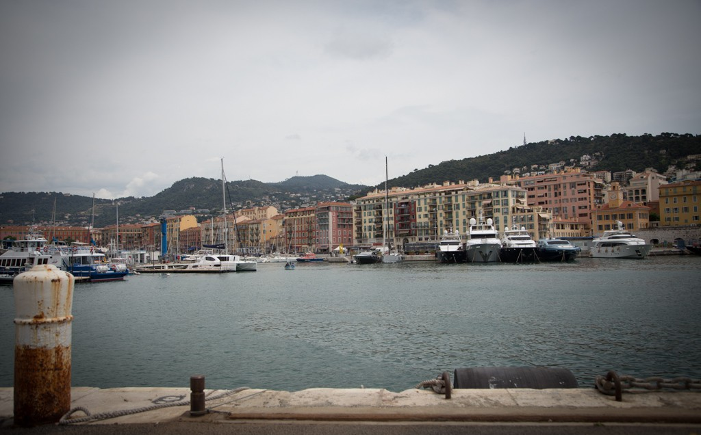 The docks in Nice.