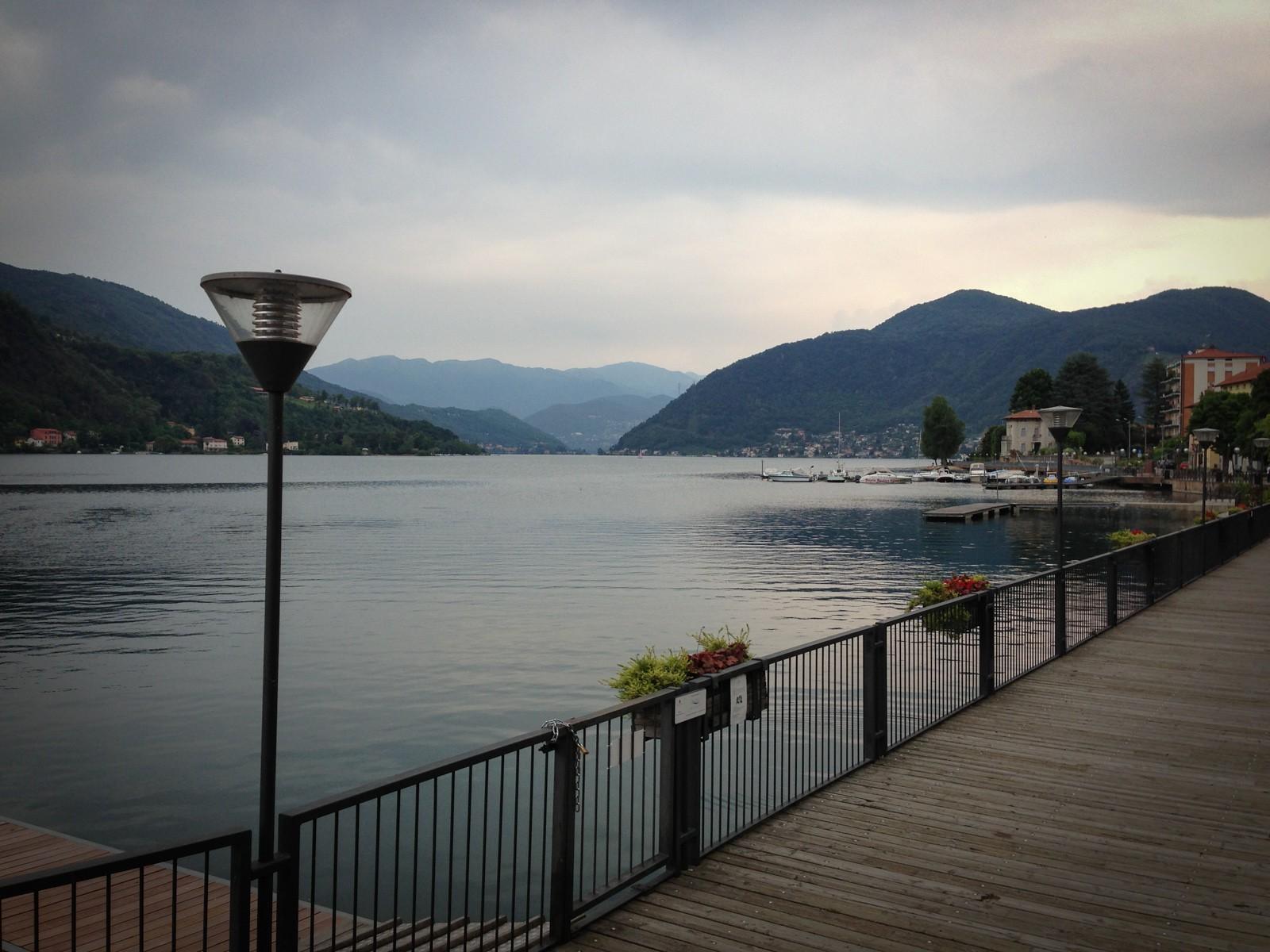 View of Lake Lugano from Porto Ceresio.