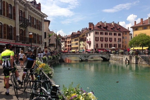 The stunning town of Annecy.