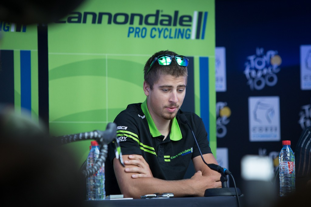 Pre-race press conference with Peter Sagan.