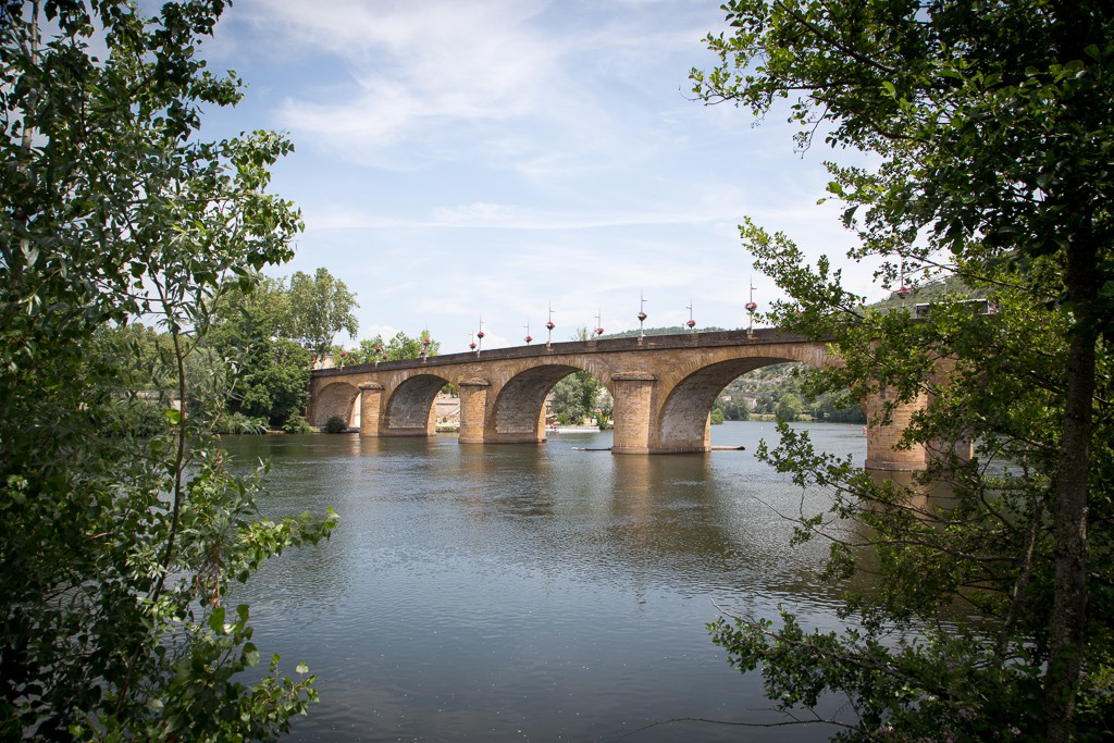 A lovely bridge in Cahors. There's another bridge just down the river that was apparently built in the 14th century.