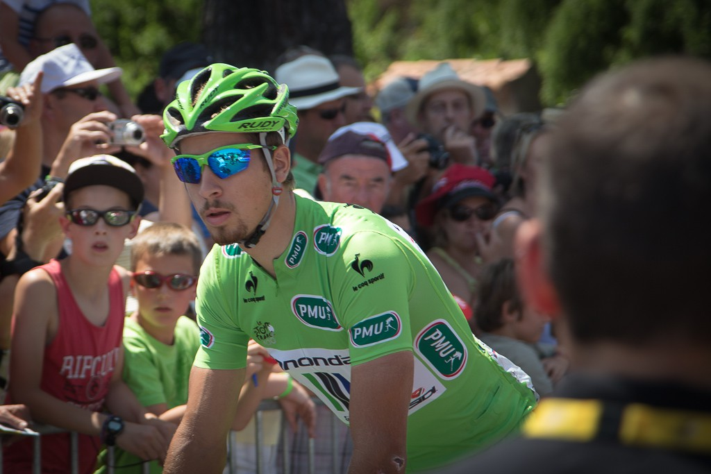 Peter Sagan dominated the green jersey competition for almost the entire Tour.