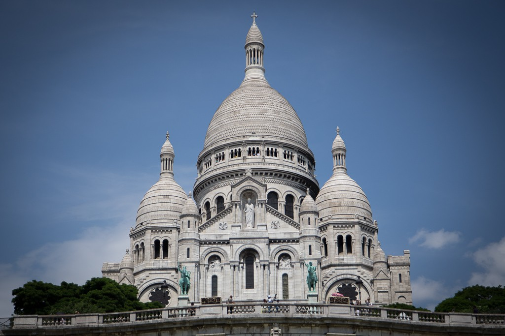 The Basilica of the Sacred Heart of Paris.